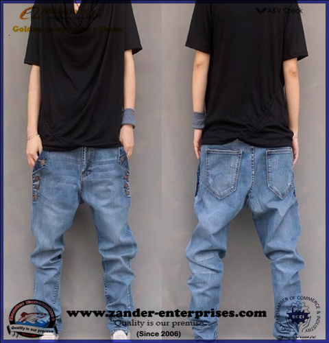 Low waist jeans / Baggy style new era fashion denim jeans