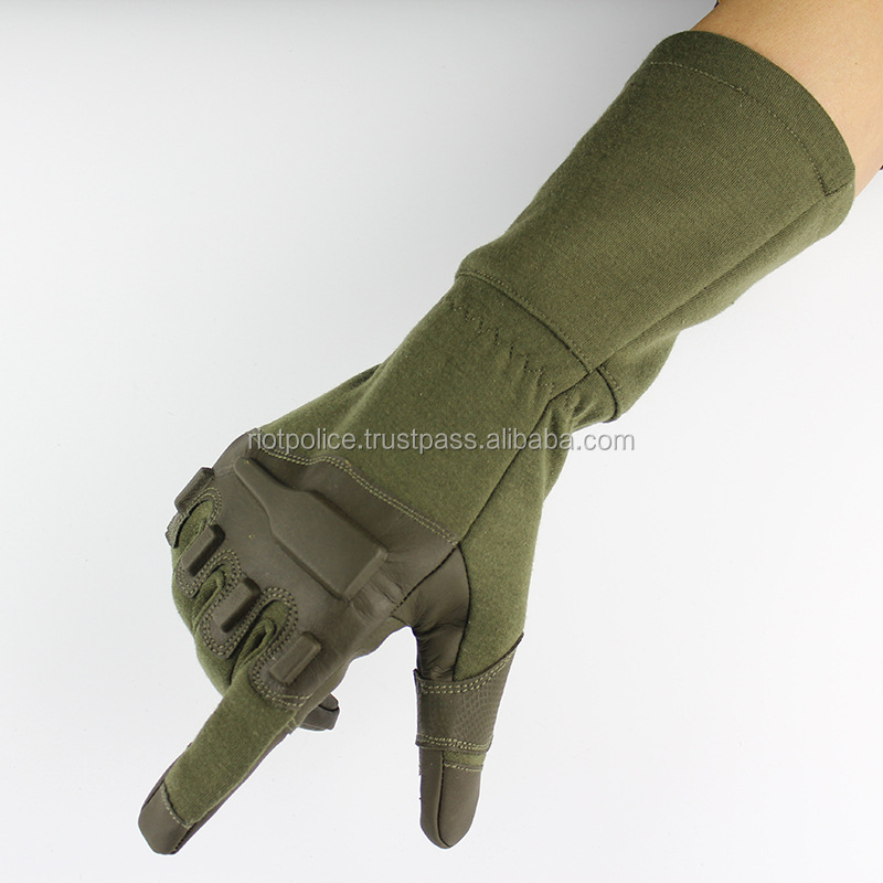 New black hawk outdoor kevlar fire resistant anti cutting prevention gloves lengthening cutting resistant gloves