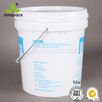 5 gallon plastic yogurt bucket can hold 40 pounds of product with metal handle