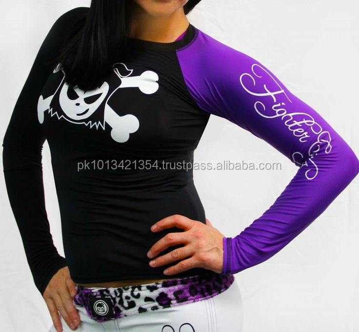 High Quality Womens MMA Sublimation Designs Rash Guards