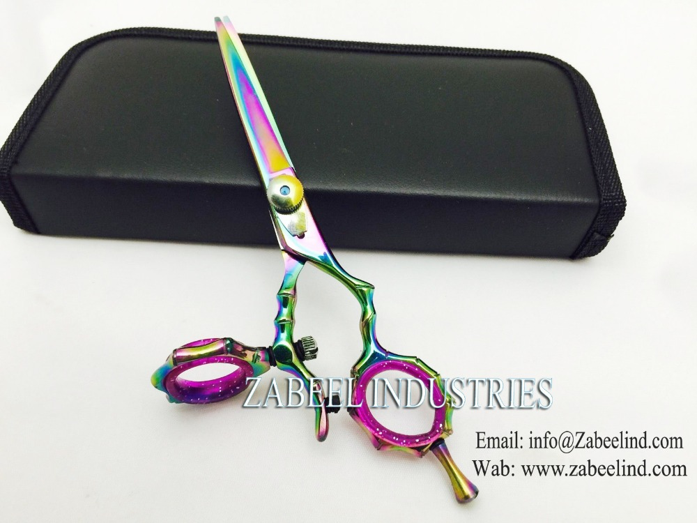 "Salon Barber Hairdressing Hair Cutting Titanium Scissor Shears Best with case Size 5.5"" Inch by Zabeel Industries"