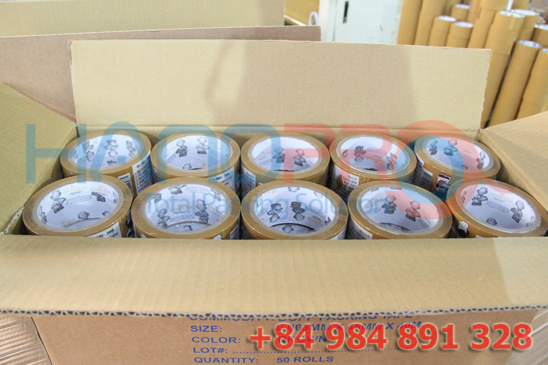 Material OPP adhesive packing tapes with OEM Vietnam origin for packaging