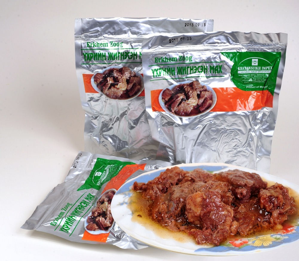 """Erkhem Zoog"" Steamed Beef, Mongolian natural meat product"