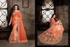 Worldly Orange Chiffon On Net Designer Saree/designer sarees images