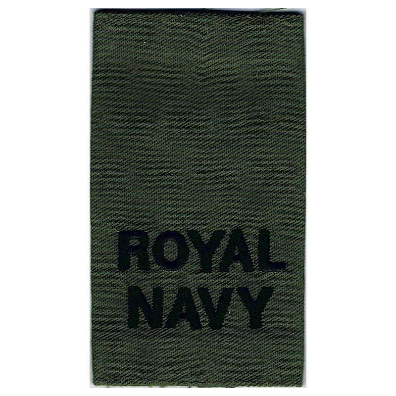 Royal Navy - Black On Olive Slip-On Epaulette Embroidered Naval Branch, rank or miscellaneoe Embroidered Fire and Rescue Service