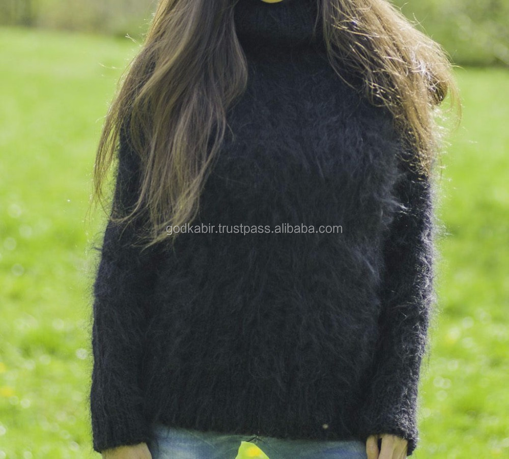 New cheap and wholesale top export level best Hand knitted mohair sweater Hand made new design all season use sweaters.