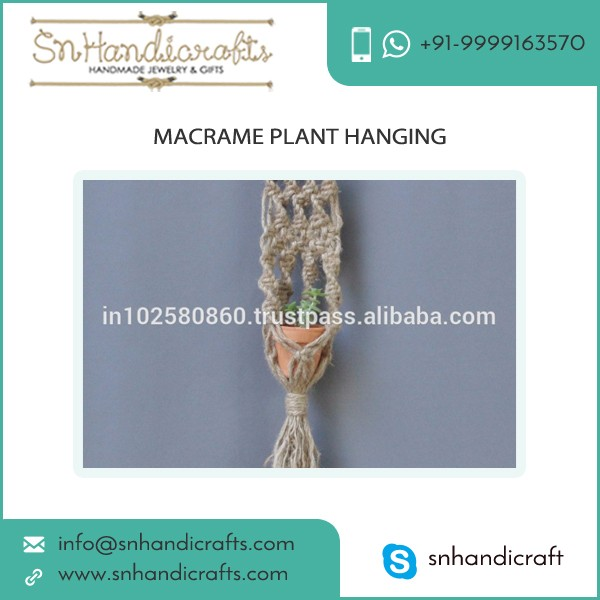 Easy to Clean Home Decorative Macrame Plant Hangers for Sale
