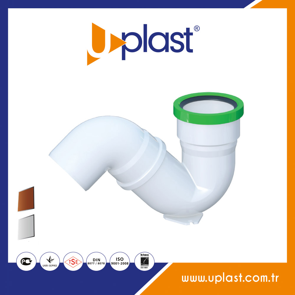 PVC pipe fittings 87 degree s siphon