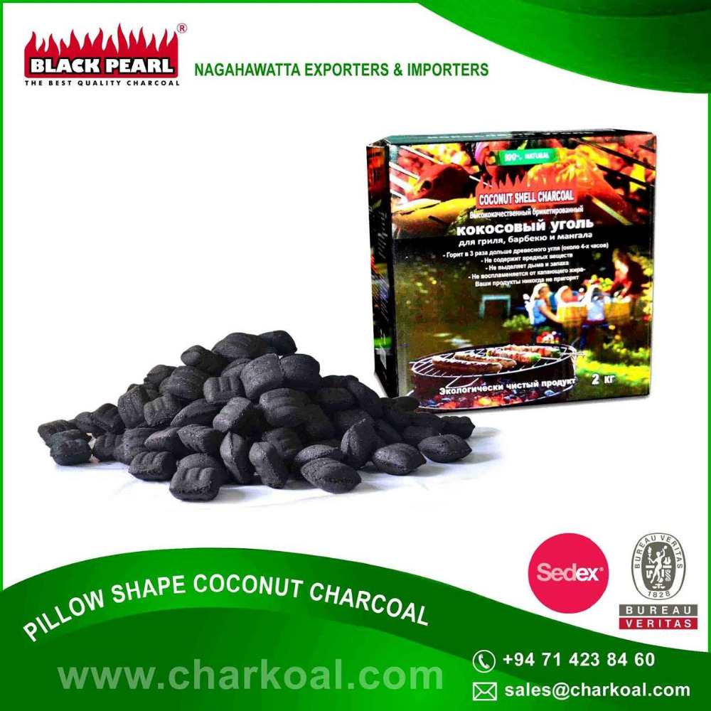 Pillow Shape Charcoal Briquettes for BBQ and Grill