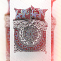 100% cotton bedspread ethnic wholesale tapestry bedspread decor bedsheet with matching pillowcases