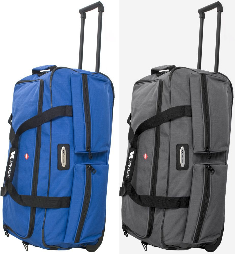 High quality red pp woven trolley bags for business trip
