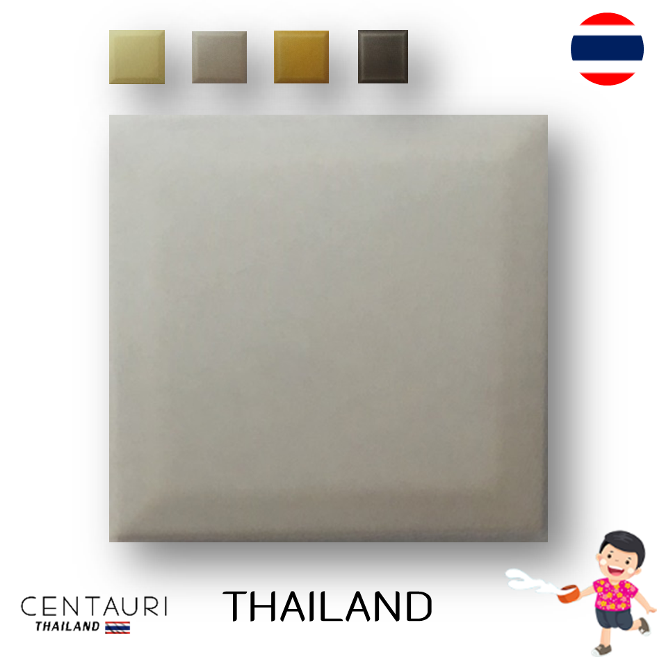 glazed 4''x4'' square early white cream grey yellow smooth design Thai ceramic swimming pool tile and tile from Thailand