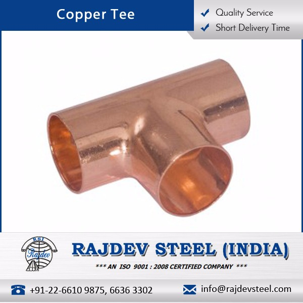 Highly Demanded Leak Proof Copper Tee Available for Power Plant Industry