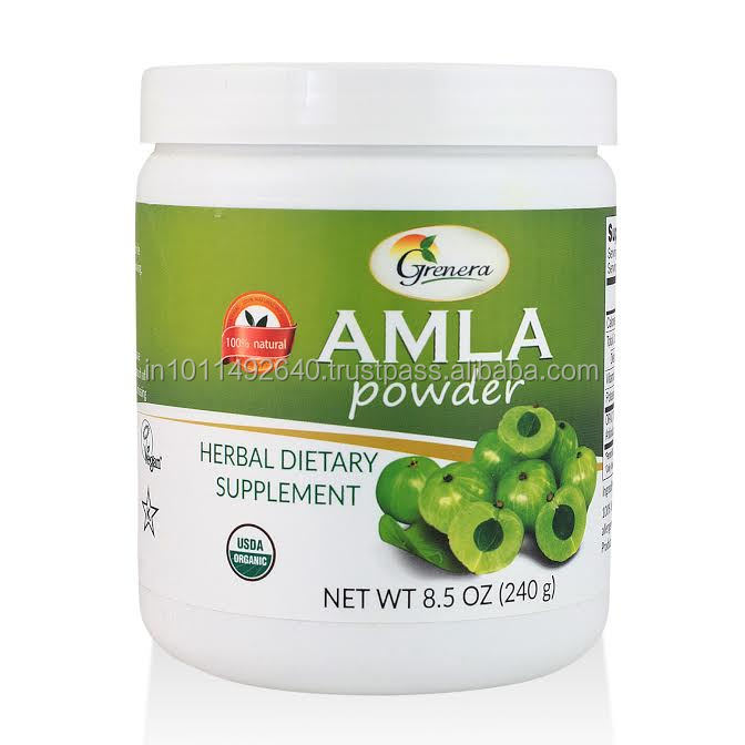 Organic Cert Amla Dried 240gm(8.5 oz)/440gm (15.5 oz) Powder Jars