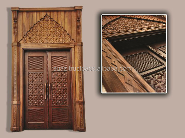 solid teak door , rosewood doors , Pakistan hand carved wooden doors exporter , Wooden double door price , Wholesale wooden door