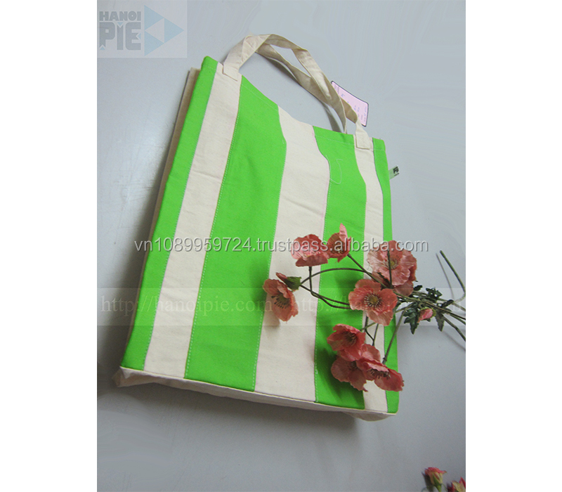 Total 100% natural cotton shopping bag of Vietnam