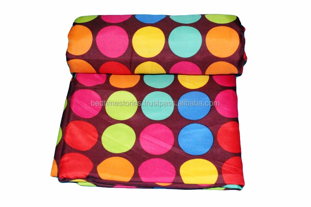 Polka dot multicolored Designer thermal insulated Dohars Hot blanket