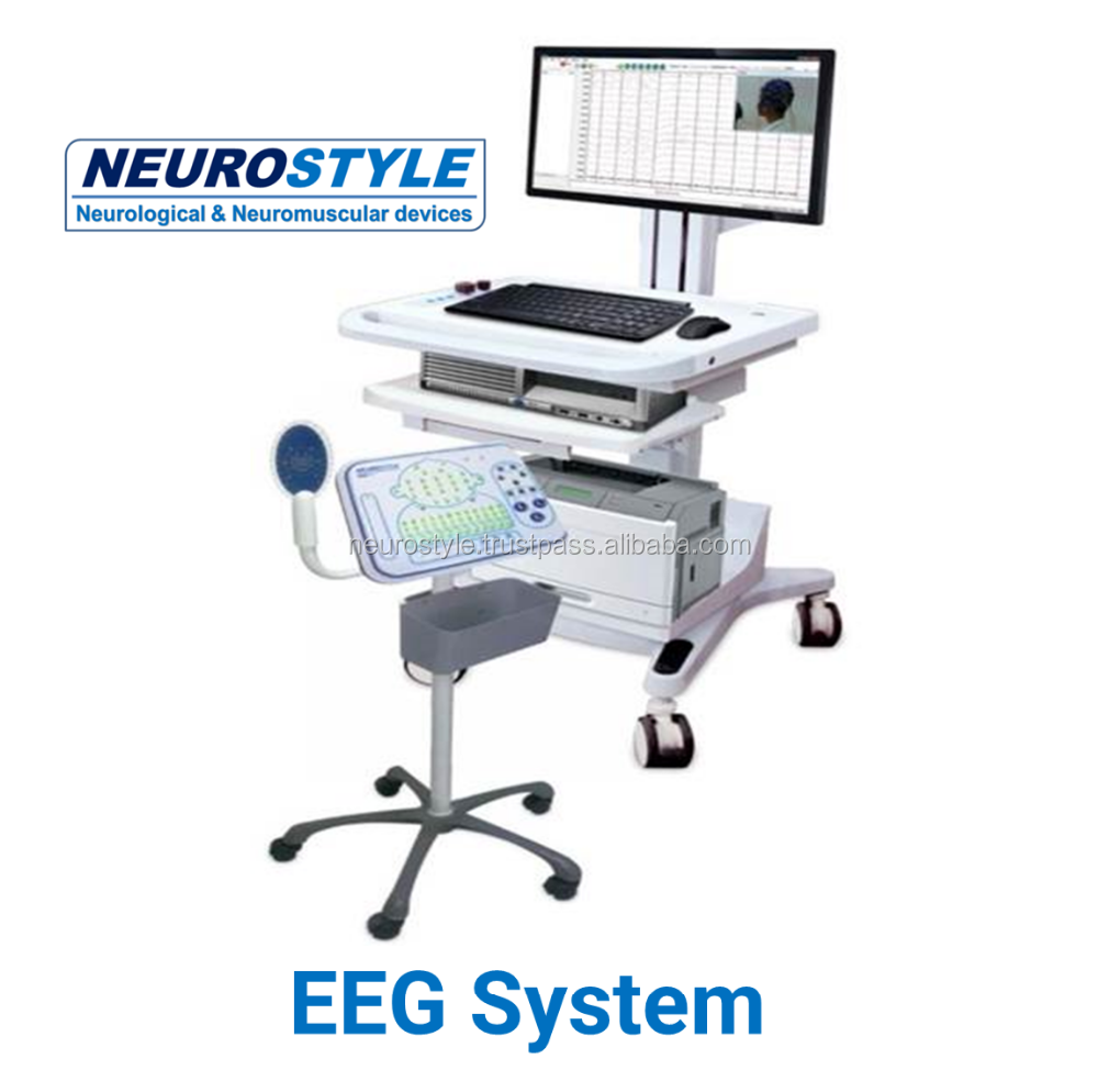 Electroencephalogram eeg device with Pentagonal stand and computer