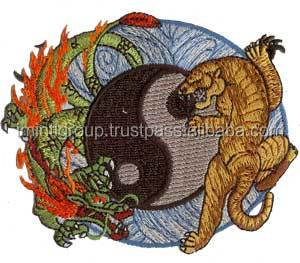 Clothing Accessories embroidery patches in cheap price oem factory