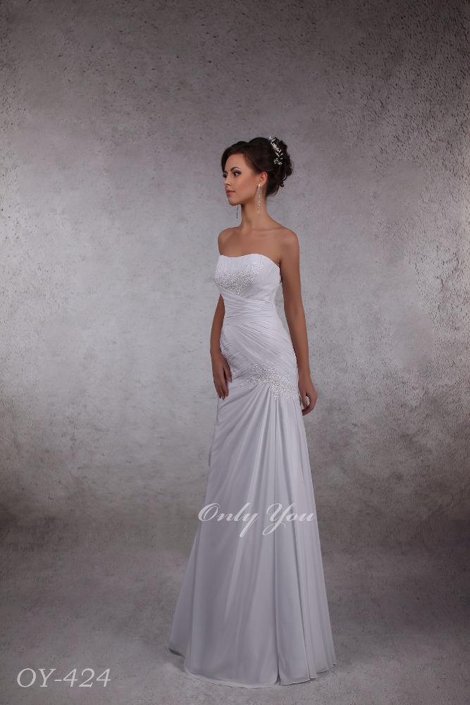 Formal Chiffon Wedding Dress Draped Off Shoulder Beaded Lace Elements Sweatheart Low Back