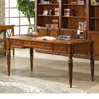 ANTIQUE HOME OFFICE FURNITURE VIETNAM WRITING WOOD DESK