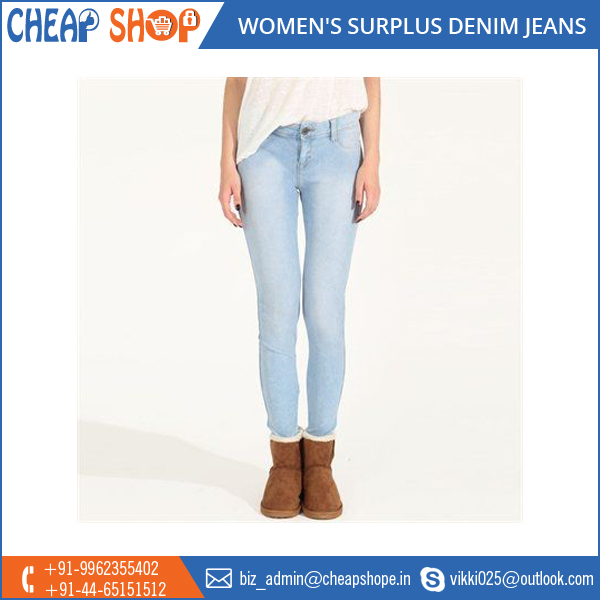 Wholesale Export of Surplus Denim Jeans pants for Women at Low Price