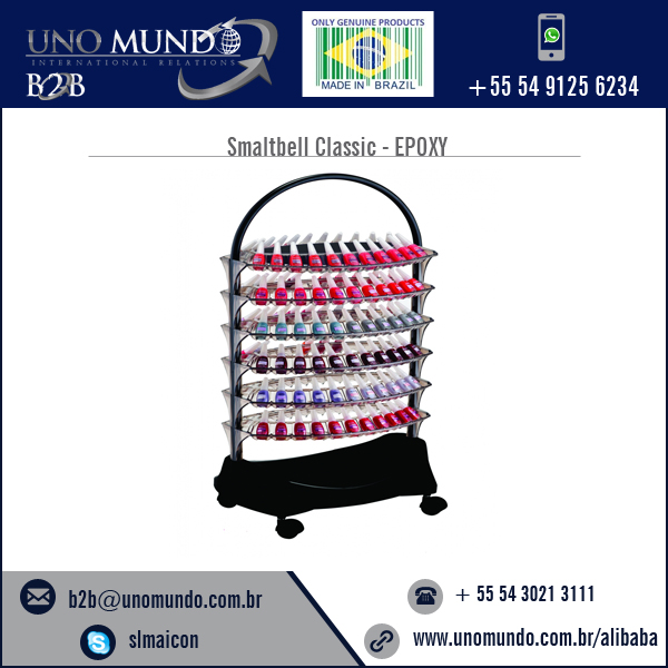 Good Design Broad Size Manicure Trolley Smaltbell Classic - EPOXY( Purple Epoxy Structure) with 6 bandejas