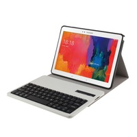 Flip Portfolio Leather Case with Bluetooth Keyboard for Samsung Galaxy Tab Pro 10.1 T520 T525 Business Keyboard Case