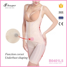 China Corset Wholesaler Body Slim Shaper One Piece Snap Crotch Bodysuit B0401L5