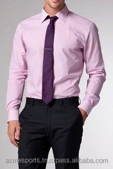 custom dress shirts - latest design men's slim fit dress shirt for business manufacture