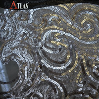 Sequin Beaded Embroidery Tulle Fabric