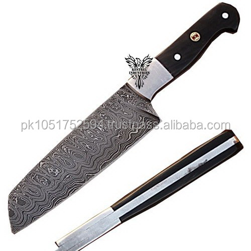 Custom Handmade Damascus Steel Chef/Kitchen Knife.