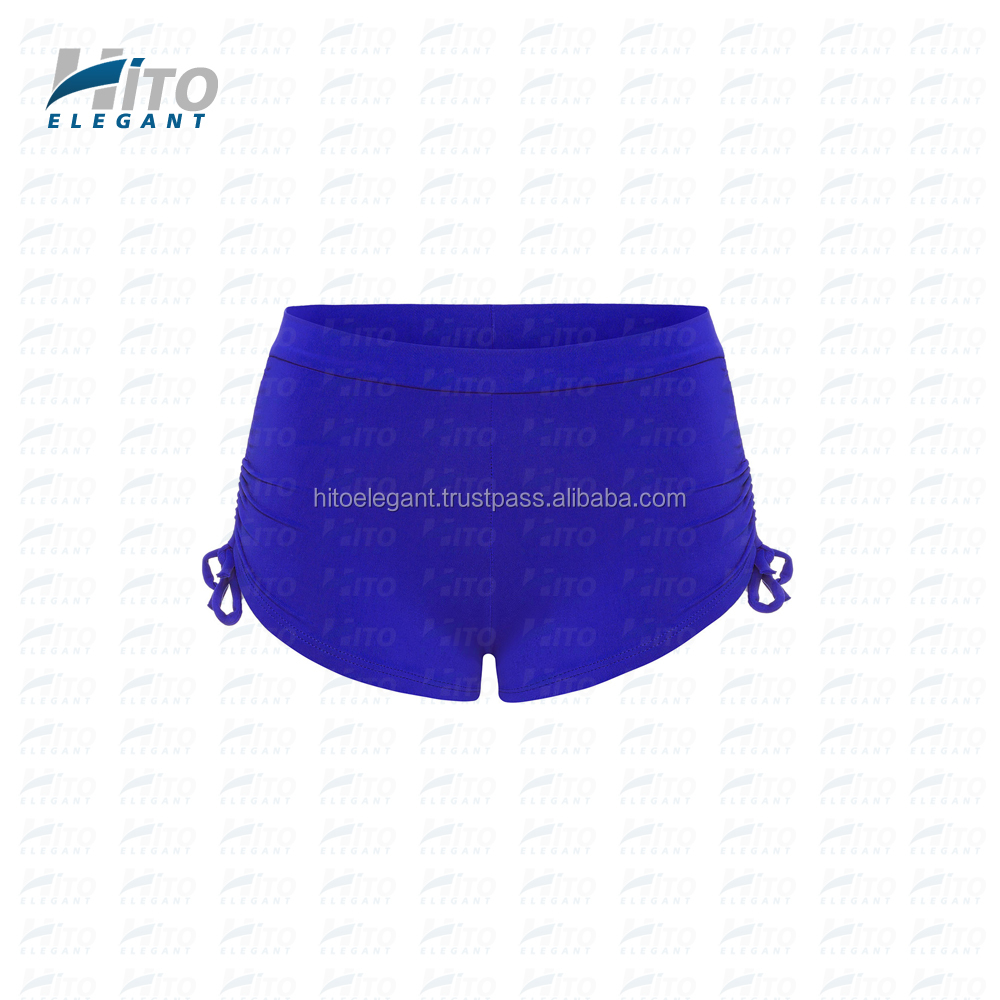 Hito Elegant High Quality Plain Azure Side String Sports Shorts, Fitness & Yoga and Activewear For Sexy Women HE-SS-0003