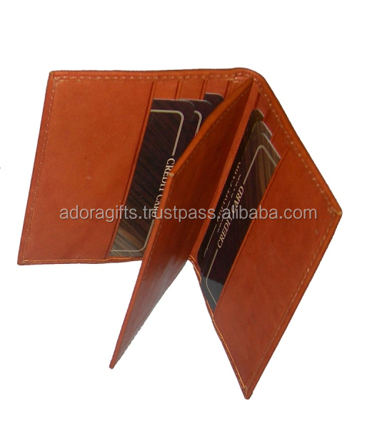 Brown Leather Card Case/Credit Card Holder/ATM-Debit Card Holder