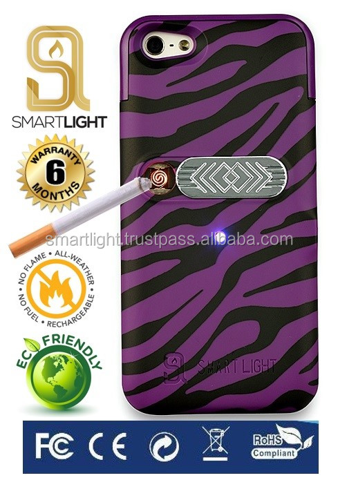 Hot new products for 2016 Purple Zebra mobile phone lighter case for iPhone 4 4S