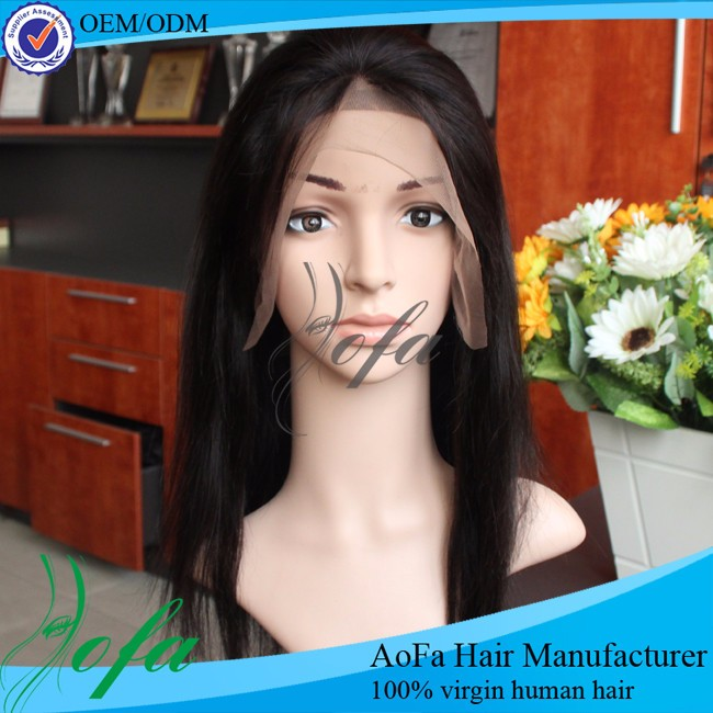 free part lady mongolian natural human hair wig