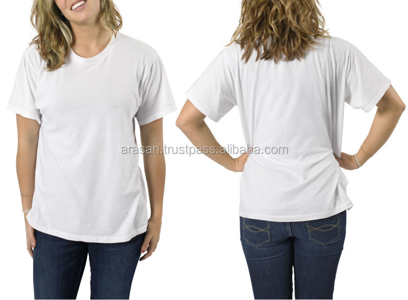 Cheap priced-100% cotton knitted-Crew neck T shirts
