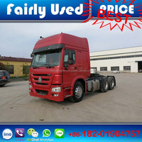 Low price sinotruk 6x4 375hp tractor truck, used Howo tractor truck in tractor truck