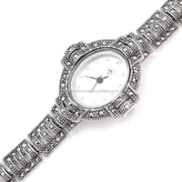 925 Sterling Silver Marcasite Watch