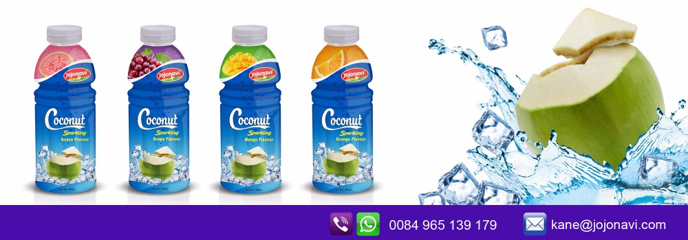 Exporter Coconut water sparkling orange in PP bottle 500ml
