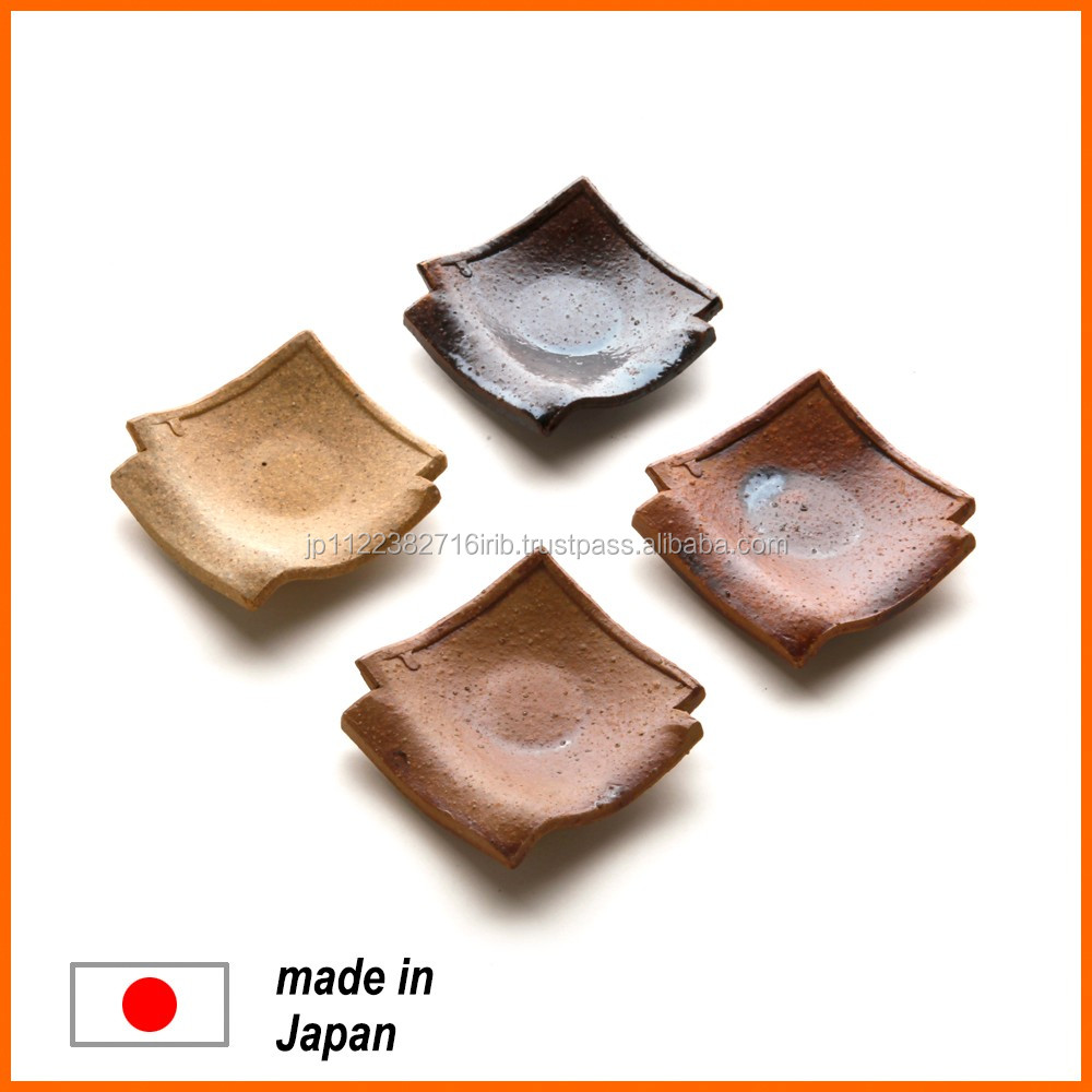 Various types of unique ceramic dinner plate for serving food from Japanese manufacturer