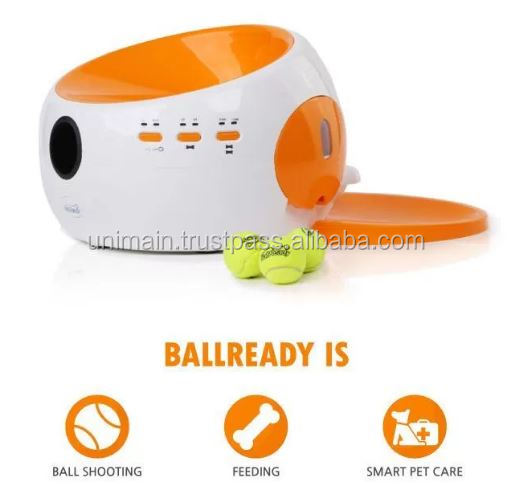 Dog Toys Automatic Dog Ball Launcher Dog Food Dispenser Tennis Ball Launcher Pet Food Dispenser