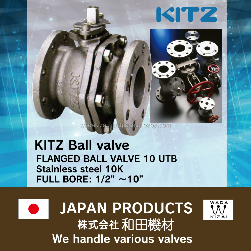 Stainless steel valve KITZ Stainless steel Ball valve for industrial use Best Regards,Katsumi Wada