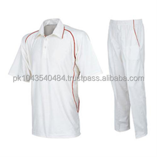 Wholesale White Cricket Uniform / Test Cricket Uniform / Custom Sublimation Cricket Uniform