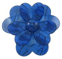 blue Acrylic DIY Hair Flowers