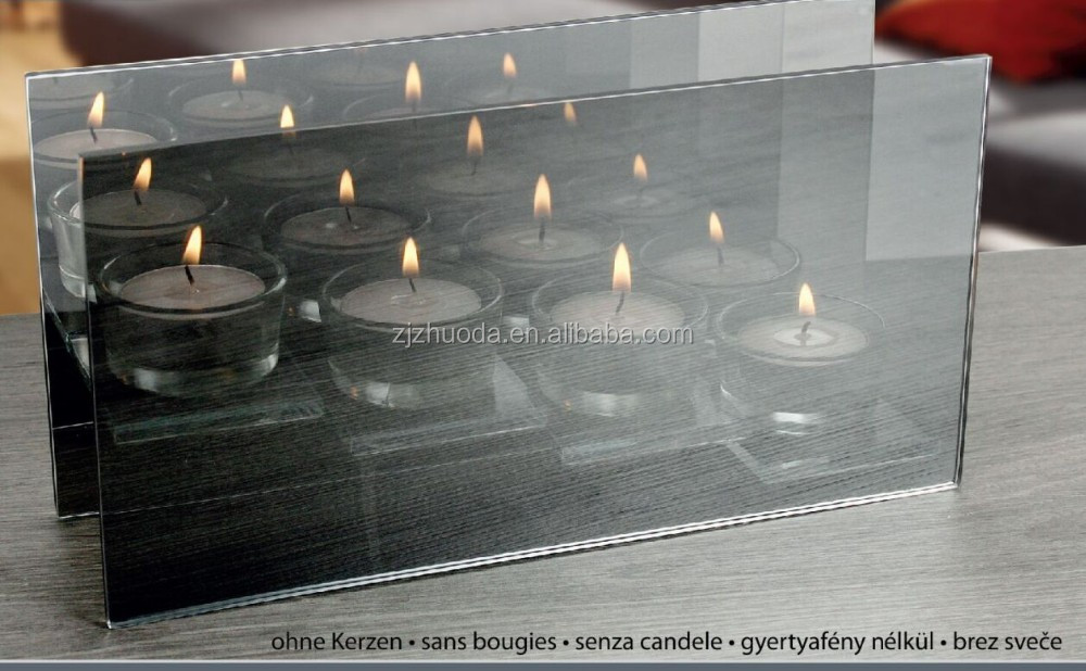 2017 New Arrival Hotel Decorate Square Glass Candle Holder