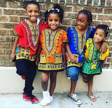 Kids Kinderen Afrikaanse Kleren Shirt Dashiki Print Jongens Meisje Jurk Hippie Traditionele-Kids-Dashiki-Boho-Tribal-Blouse Sml