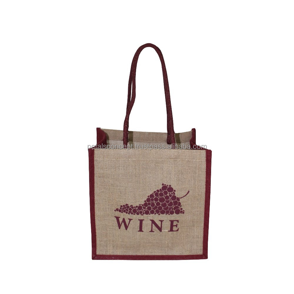 Supermarket non woven Wine Shopping Bag can custom logo printed promotion