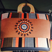 Handmade woven and beaded ladies handbags