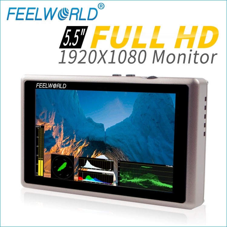 5 inch on camera monitor with hdmi sdi 800*480 resolution 350cd/m2 brightness